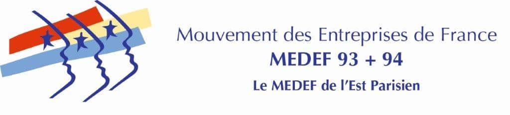 Logo Medef 93+94 horizontal